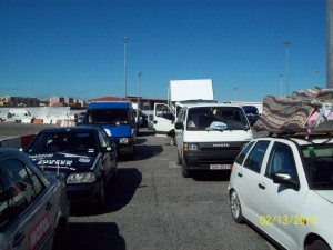 Warten auf die Fahrt über die Strasse von Gibraltar