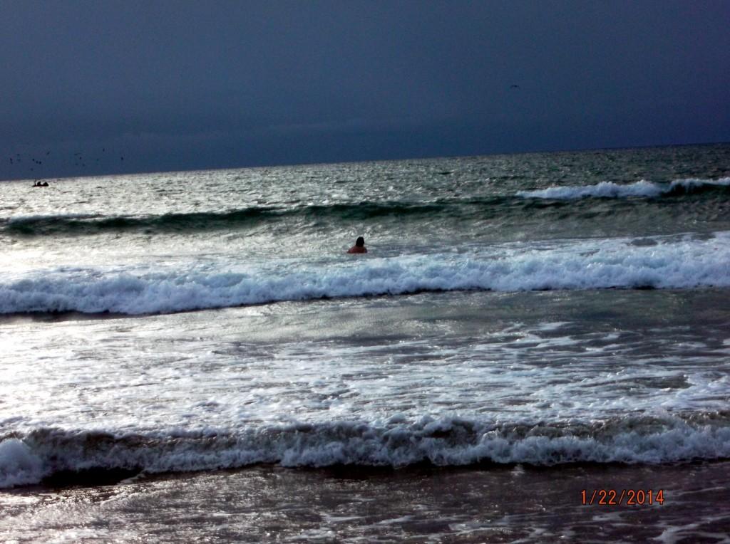 Gringo im Meer