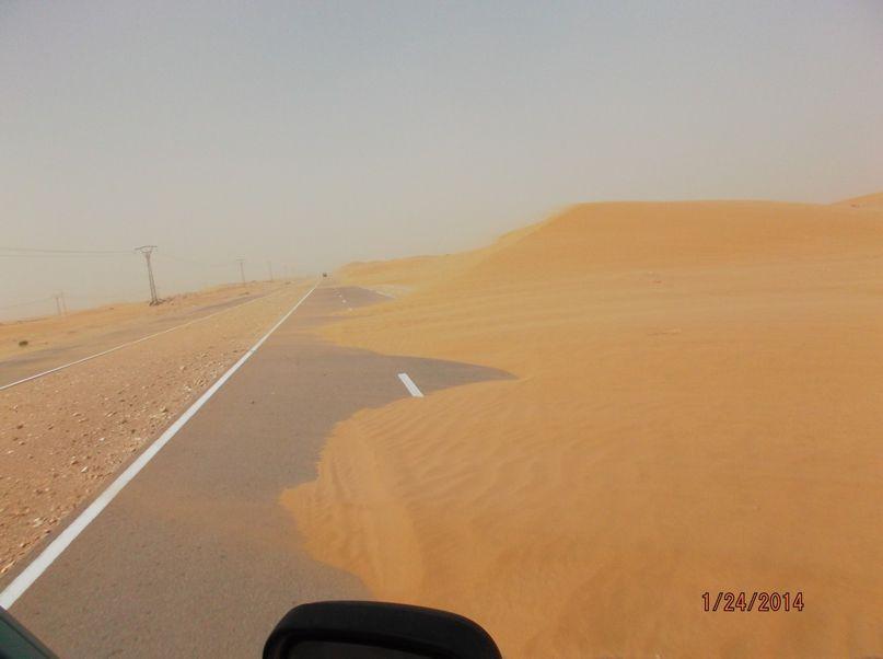 Strasse nach Sandsturm