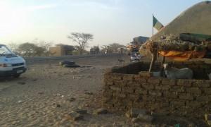Grenzposten Gogui/Mali mit einer  heissen, Moskito verseuchten Nacht